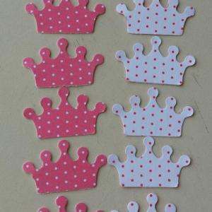 Coroa mini em cartolina bicolor - 24 unidades