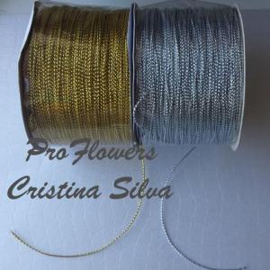 Cordão ouro ou prata 1mm 100mt