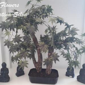 Bonsai artificial folhagem de Acer 70cm