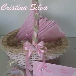 Conjunto Batismo rosa