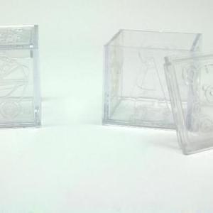 Caixa de acrilico com motivos infantis 5x5x5cm
