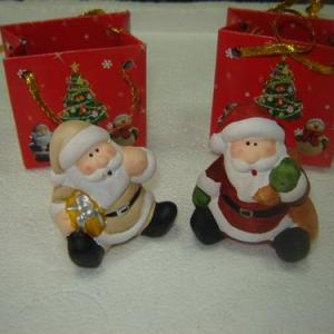 Pai Natal 7cm em saquinho de papel decorado Natal