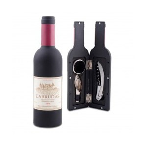 Conjunto para vinho em caixa garrafa 2