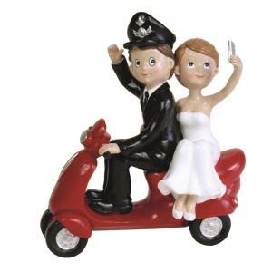 Noivo policia na moto