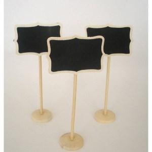 Suporte de madeira com ardósia rectangular