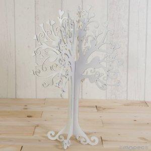 Árvore em madeira branca para mensagens 1