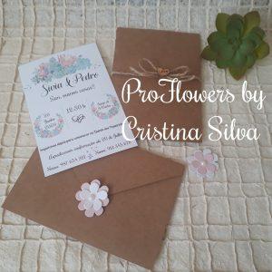 Convite rustico floral 1