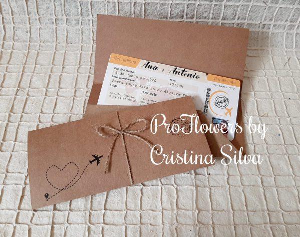 """Convite de casamento """"Boarding pass"""" 2"""