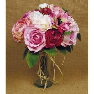 Ramo noiva artificial rosa