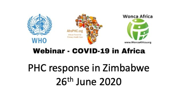 Webinar COVID19 in Africa 2020-06-26 Zimbabwe