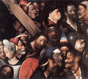 """Jérôme Bosch, """"Le Portement de Croix"""", vers 1505- 1510"""
