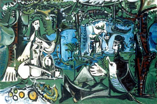 Le déjeuner sur l'herbe (d'après Manet), Pablo Picasso