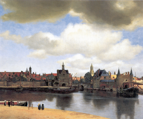 Vue de Delft, Johannes Vermeer, vers 1660, La Haye.