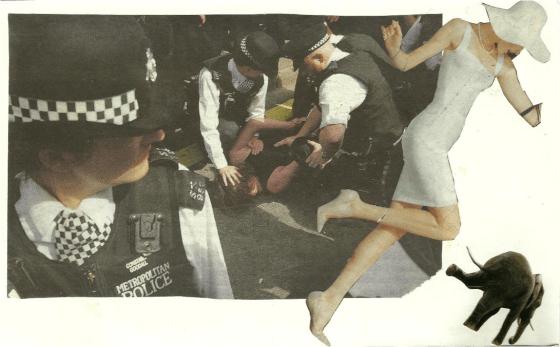 """""""A storm is coming"""", collage sur papier, 2013"""