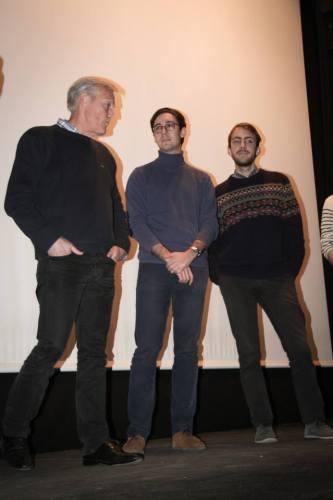Bernard Jagorel, Paul Grunelius, Quentin Jagorel lors de l'avant-première du film