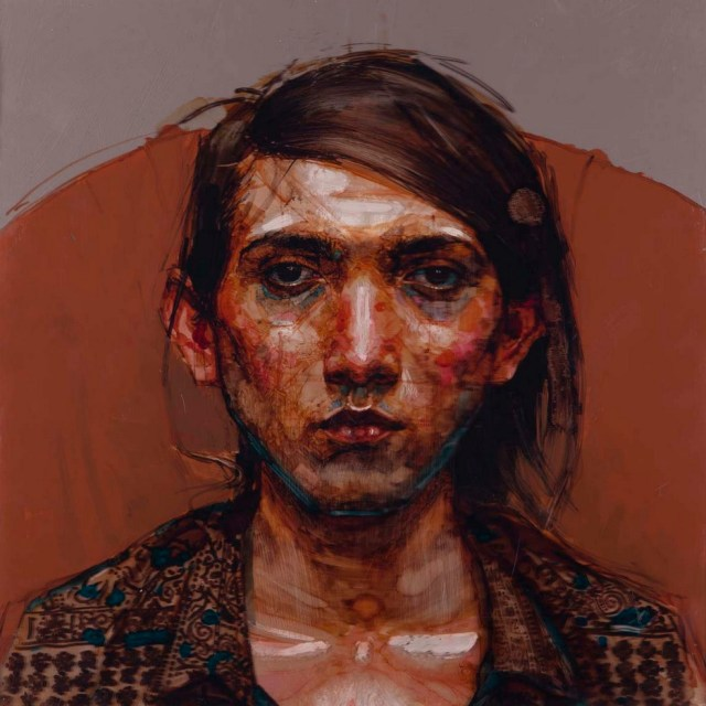 Boy from Costa Rica II, 2012, Acrylique et Encre sur Perspex, 53x53 cm