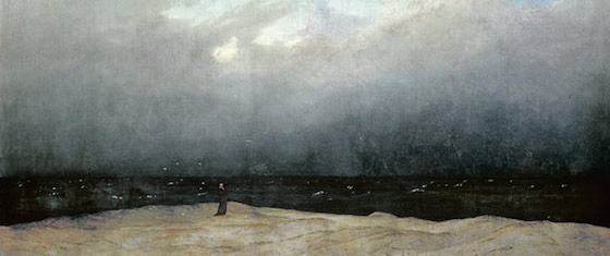 friedrich moine au bord de la mer