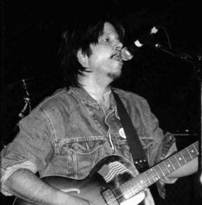 Picture of Grant Hart, taken at the Metro Club in London in May 2005.