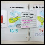 Territoire de la Nouvelle-France en 1645 et 1745// Cahier interactif des seigneuries