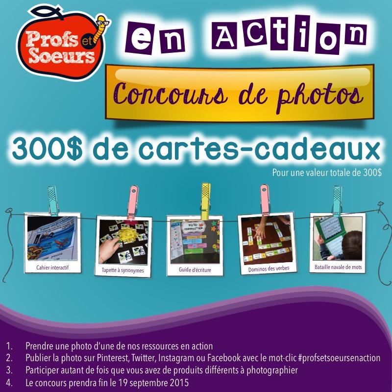 Concours de photos #profsetsoeursenaction