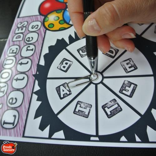 La roue des lettres est simple, facile et amusante. Jeu de mots par Profs et Soeurs