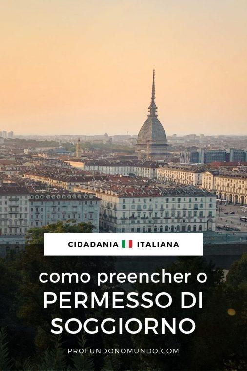 Cidadania Italiana Como Preencher O Permesso Di Soggiorno Profundo No Mundo