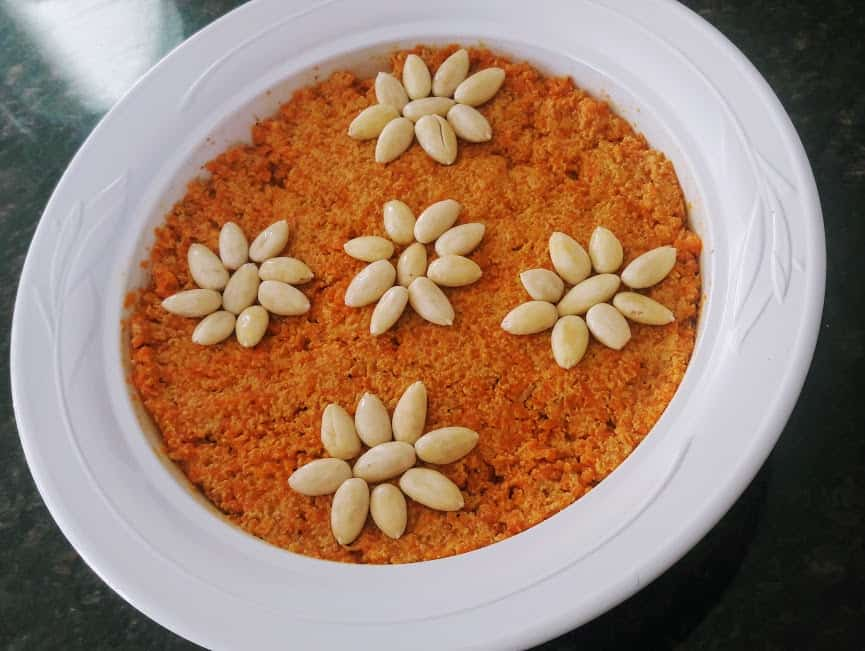 Gajar Halwa / Carrot-Almond Pudding