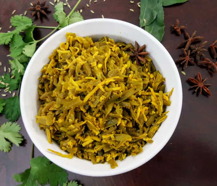 Green Beans with Coconut  (Indian Vegetable Entrée)