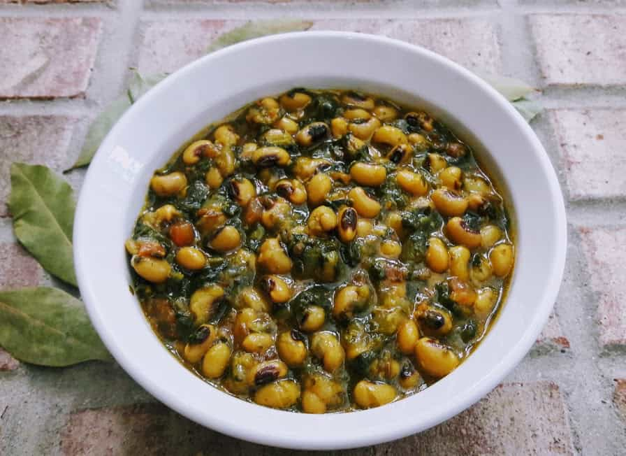 Black Eyed Peas Spinach Stew – Instantpot , Gluten free, Vegan