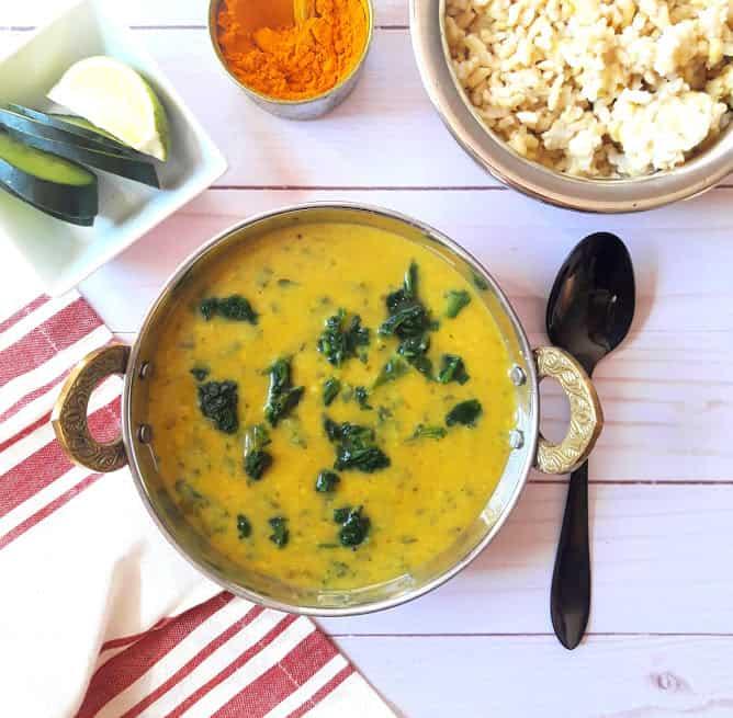 Dal Palak / Spinach Lentil Curry -InstantPot