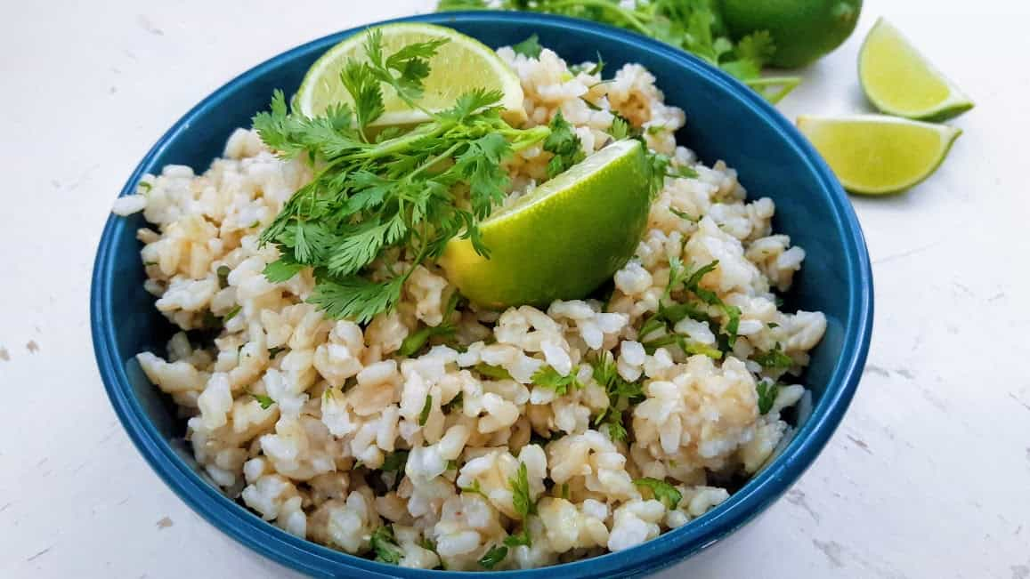 Cilantro Lime Brown Rice-InstantPot