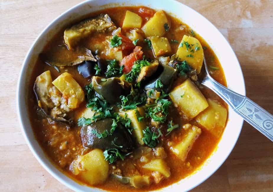 Potato Eggplant Curry-InstantPot