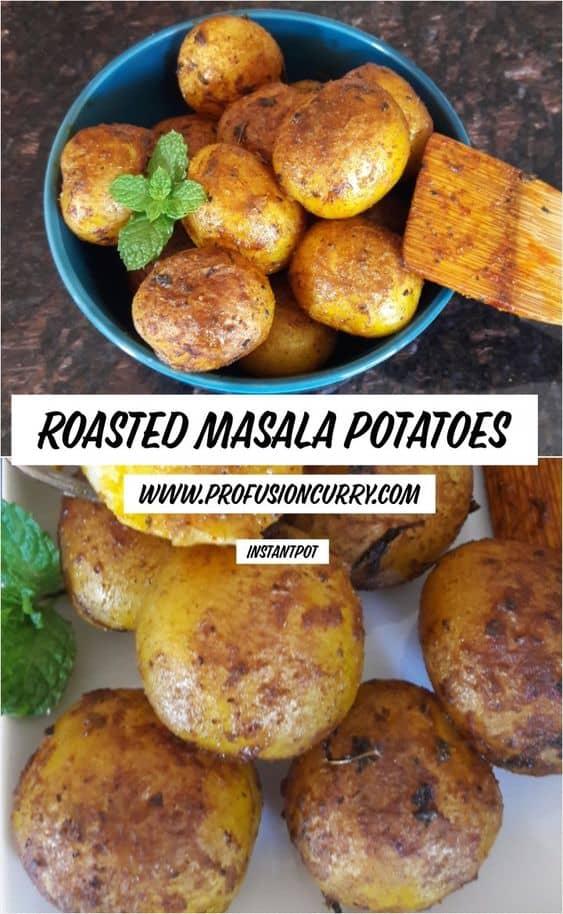 Roasted Masala Potatoes-Instantpot