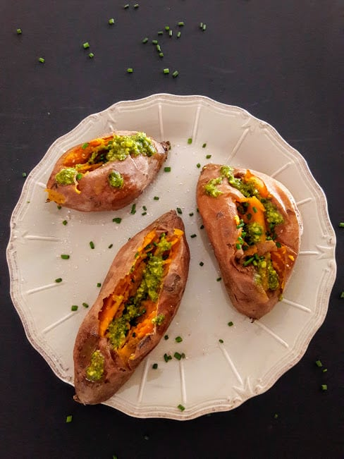 Stuffed Sweet Potato in InstantPot Recipe