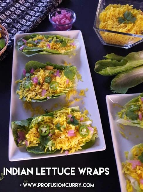 Turmeric Lemon Rice Lettuce Wraps