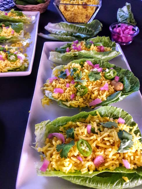 Lettuce Wraps-Turmeric Lemon Rice Recipe