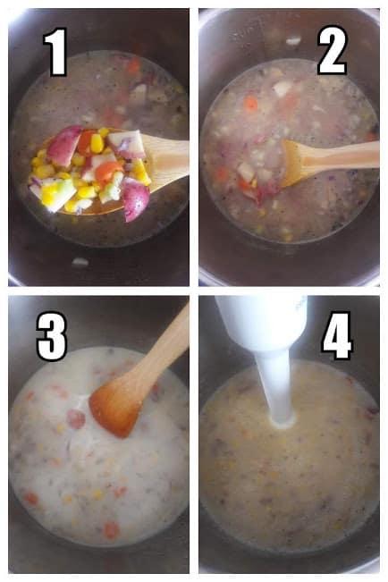 Creamy Vegan Corn Chowder-Instructions