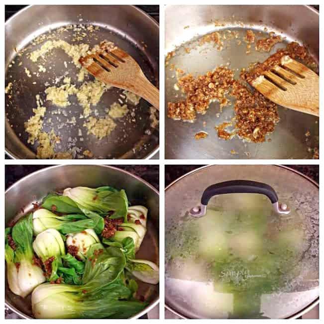 Ginger Garlic Bok Choy StirFry Steps