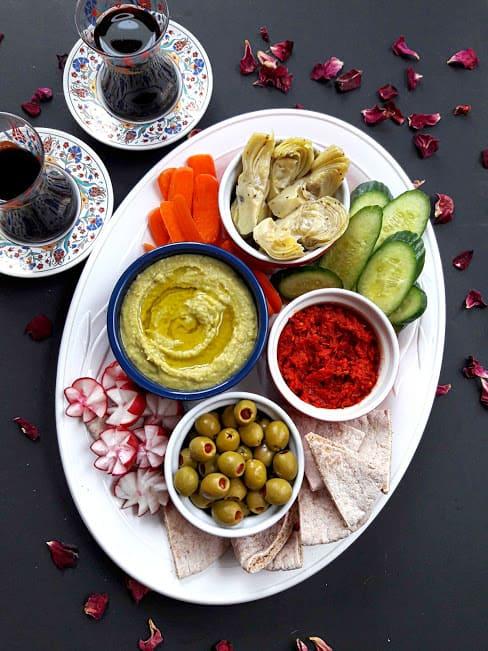 Mediterranean Mezze Appetizer Platter