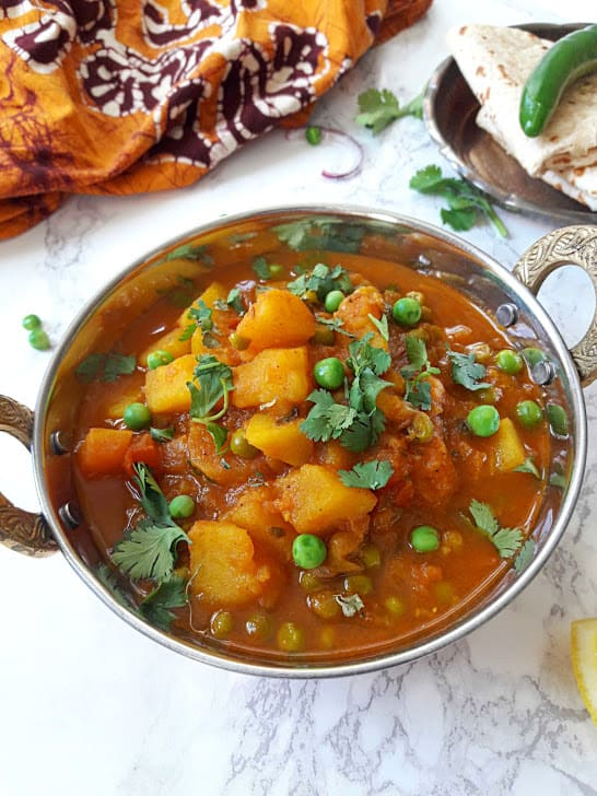 Aloo Matar-Potato & Peas Curry-InstantPot