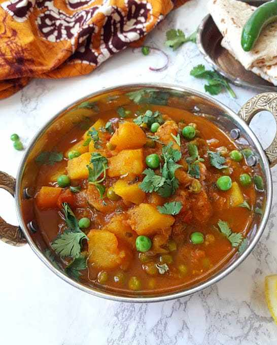 Aloo Matar – Potato and Peas Curry – InstantPot