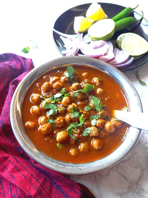 Chana Masala – Punjabi Chole – Chickpea Curry – InstantPot