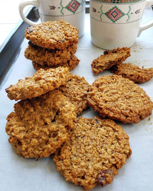Banana Oatmeal Raisin Cookies - Vegan and Gluten free