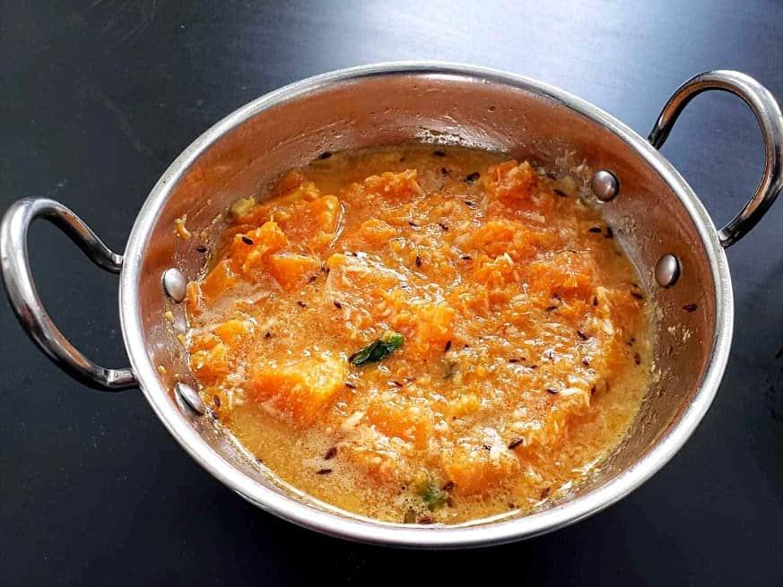 CLose up shot of Pumpkin Curry