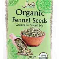 Jiva Organics Fennel Seeds 7 Ounce - Non GMO - Resealable Bag