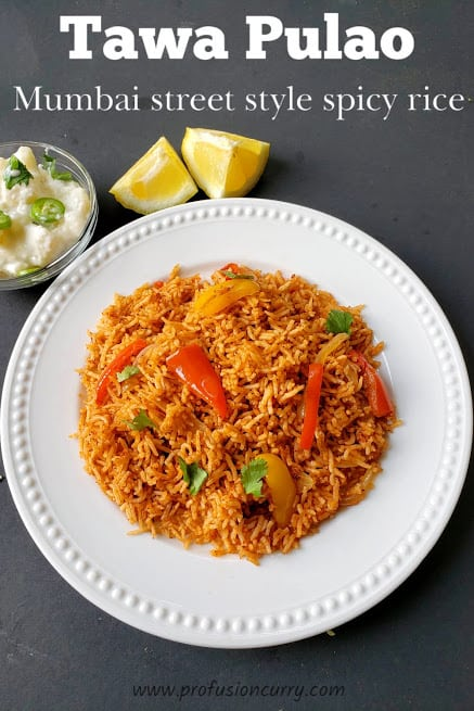 Tawa Pulao - Mumbai Street Food - Instantpot