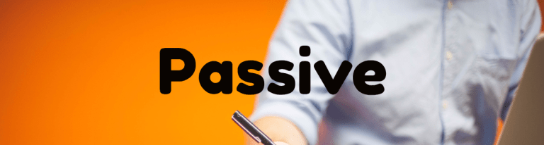 Passive in English: they don't like it, but they still use it