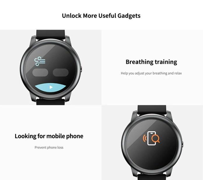 Моніторинг дихання і пошук втраченого смартфона в Hailou Solar Smart Watch