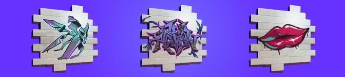 Все варианты Граффити в Фортнайт