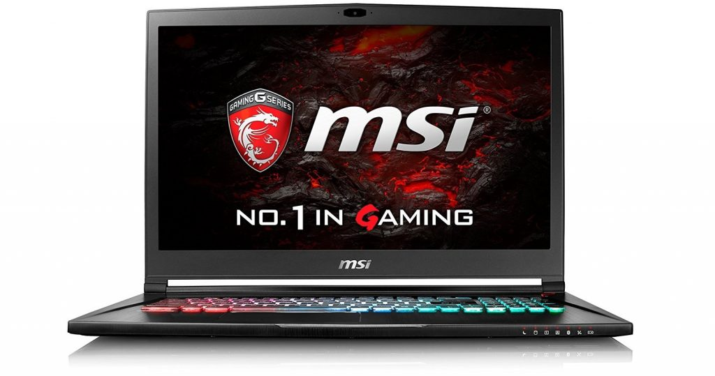 image of MSI VR ready gaming laptop